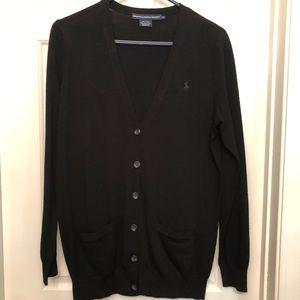 Ralph Lauren Sport Black V-neck Cardigan